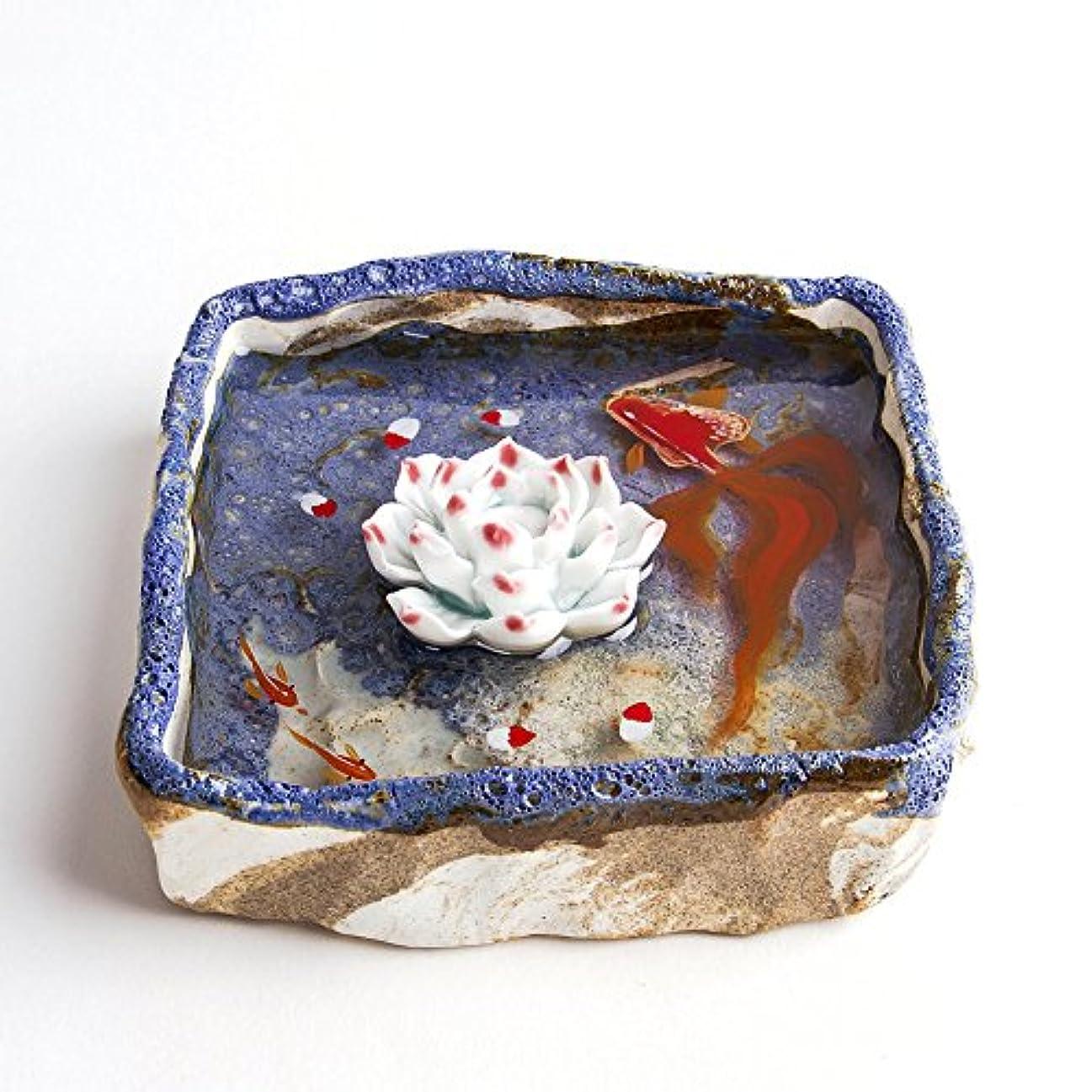 まどろみのあるレジデンスピストンお香立て お香たて 香の器 お香を焚いて 香皿,陶磁器、ブルー