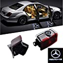 AA HUAYE 2 個 LED投影 レーザーロゴライト ドアウェルカムライト カーテシランプ メルセデスベンツ A B C E ML GLEクラス 2個セット for Mercedes Benz AMG Mercedes-Benz M