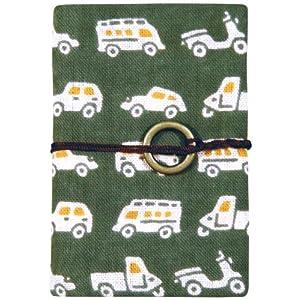 宮本 カードケース 『レトロ小紋てぬぐいのカードポケット』 商店街へとつづく道 7347