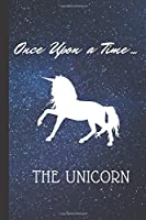 "Carnet de Note Licorne  ""Once upon a Time"": Carnet de Note Once upon a Time, Licorne carnet de notes de 100 pages au FORMAT 15 x 22,5cm"