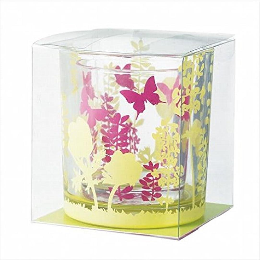 縫い目レタッチ種をまくカメヤマキャンドル(kameyama candle) ブルーミングデュエットグラス 「 ウォームカラー 」
