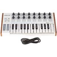 ammoon MIDIコントローラー 25鍵 USB MIDI ドラム・パッド キーボードコントローラー