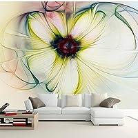 壁紙 3d 壁画 現代ヨーロッパのシンプルな抽象花の壁画、ベッドルームリビングルーム衣類ショップ背景壁装飾壁紙 (W)300x(H)210cm