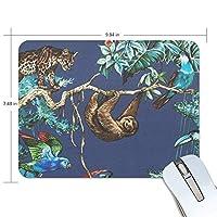 マウスパッド ナマケモノ オオハシ オウム 豹 ゲーミングマウスパッド 滑り止め 19 X 25 厚い 耐久性に優れ おしゃれ