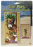 Beistle 57318Tiki Man Restroom Door Cover、30インチby 5-feet Pkg of 1 マルチカラー 57318