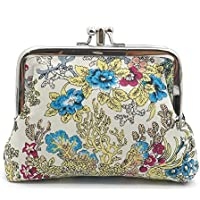 Cute Floral Buckle Coin Purses Vintage Pouch Kiss-lock Change Purse Wallets