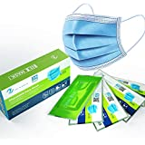 Zen Mask 50pcs Disposable Mask 3 Layers Daily Use Anti Dust Face Masks with Elastic Ear Loop - Vacuumed Bag and Packed in Color Box, Shipped from Australia