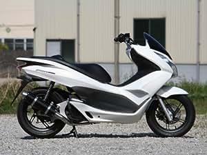 リアルスピード: アルミサイレンサーマフラー ブラック PCX125 後期 (ESPエンジン)用