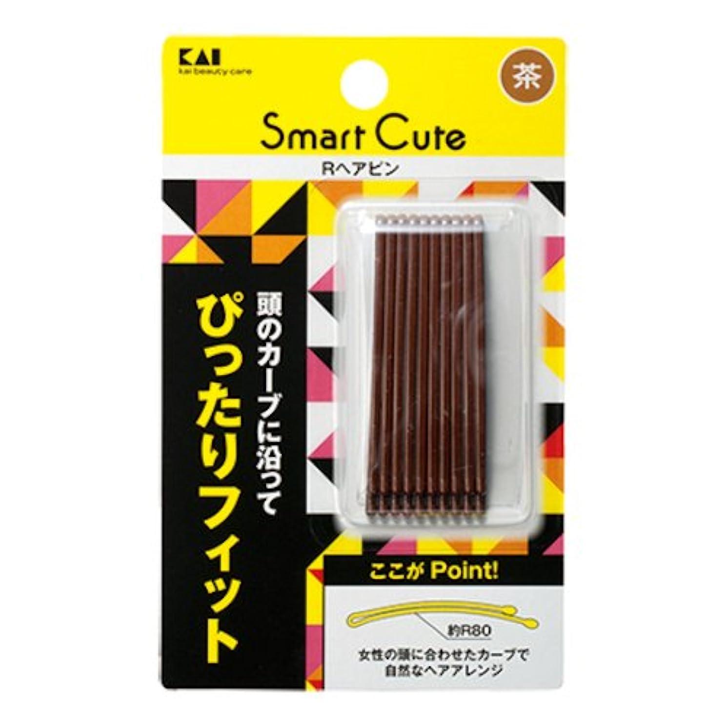 制限ピース薬局KAI Smart Cute Rヘアピン HC3333 茶