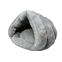 AMAA ペットハウス 犬ハウス 猫ハウス 猫用ベッド ドーム型 マット クッション 犬小屋 小型 保温防寒 秋冬