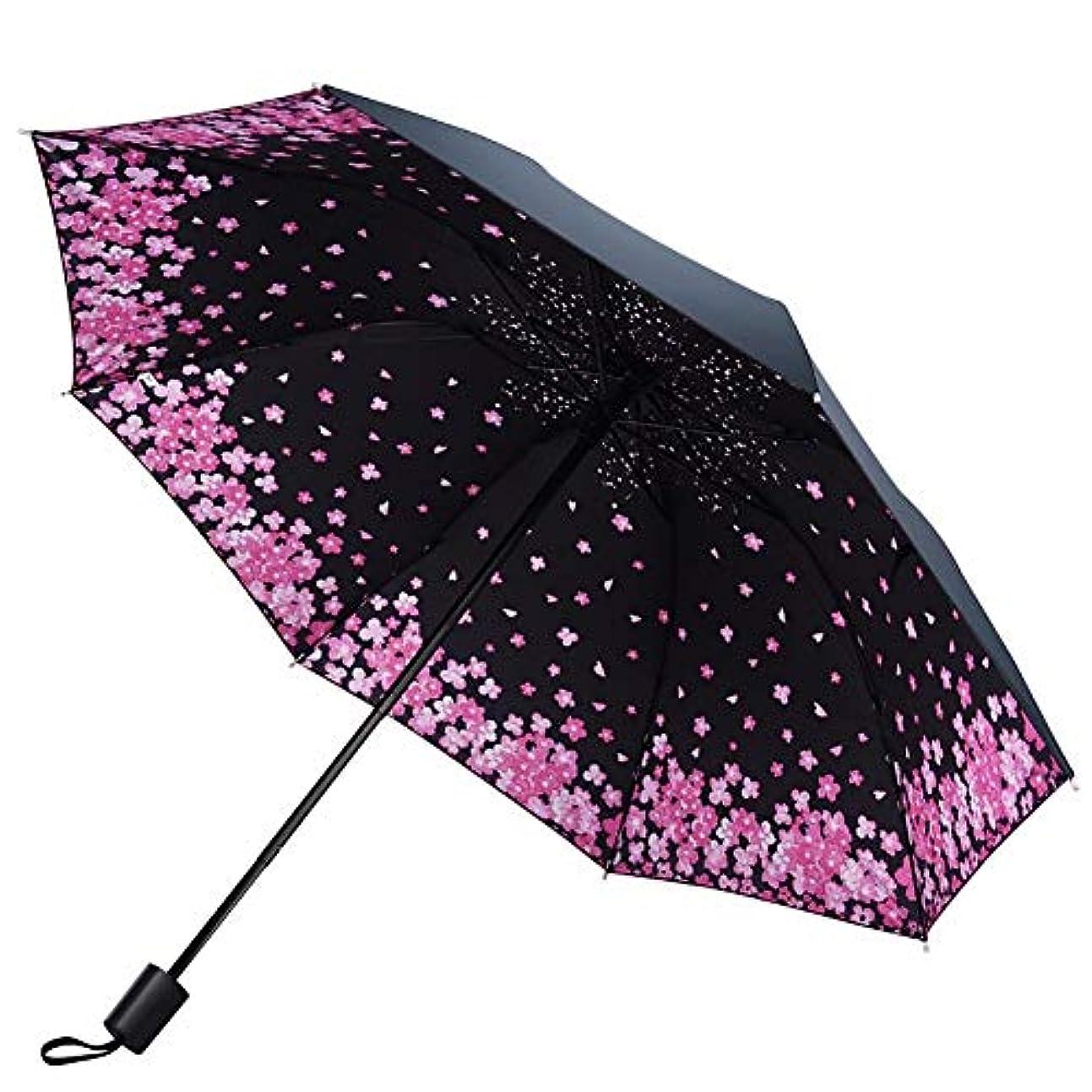 希望に満ちた脚本前売Chuangshengnet 傘折りたたみ式超軽量パターンビニール日焼け止め日当たりと雨のデュアル - 使用 (Color : B)