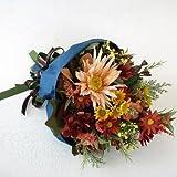 山久 アレンジャーおまかせの ブーケ ディープ系 be-b-d (CT触媒加工)【造花のブーケ】【シルクフラワー】