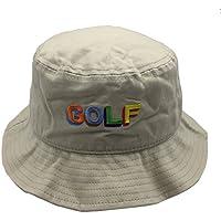 qifang liu Packable Reversible Golf Embroidered Bucket Hat Summer Fisherman Cap
