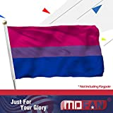 MOFAN Bi Pride Flag Bisexual Polyester Durable and Vivid Bright with 2 Solid Grommets Indoor/Outdoor Home Garden Decoration 3x5ft