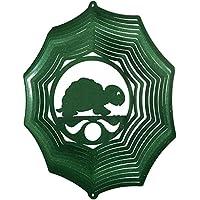 Turtle Web Swirly Metal Wind Spinner 2609