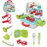 wodtoizi Kids Doctor Toy Pretend Play Dentist Set Doctor Toy Kit Medical Playset in Storage Box Boys Girls Toddler Birthday School Classroom Party Role Play Educational Toy