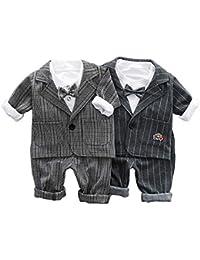Dulkiss 子供 フォーマル 男の子 ベビー 3点スーツ 結婚式 スーツ 「ベスト/ズボン/シャツ」子供 キッズ 卒園式 入学式 入園式 フォーマル スーツ 子供 スーツ タキ