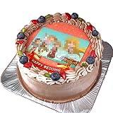 写真ケーキ シンプルフレームタイプ チョコレートの生クリーム (5号(15cm)3~5人前)