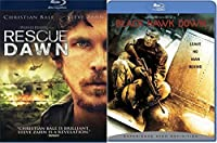 Black Hawk Down Blu Ray + Rescue Dawn 2 Pack Military Movie Action Next Mission Double Feature Set