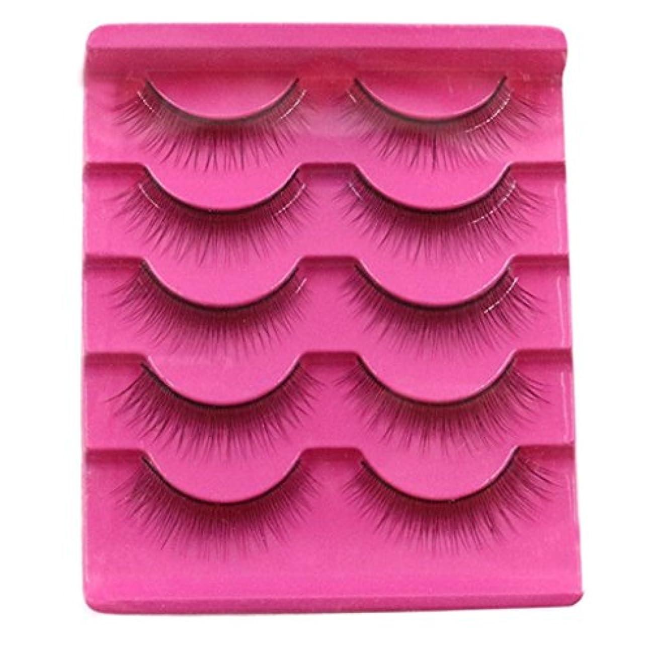 提案整然としたオーストラリアFeteso 5ペア つけまつげ 上まつげ Eyelashes アイラッシュ ビューティー まつげエクステ レディース 化粧ツール アイメイクアップ 人気 ナチュラル ふんわり 装着簡単 綺麗 極薄