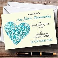 ハート新しいホーム新築祝いパーティーPersonalized招待状 80 Invitations