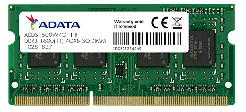 4GB DDR3L Low Voltage SOーDIMM 1600 ー512x8 リテールパッケージ ADDS1600W4G11-R