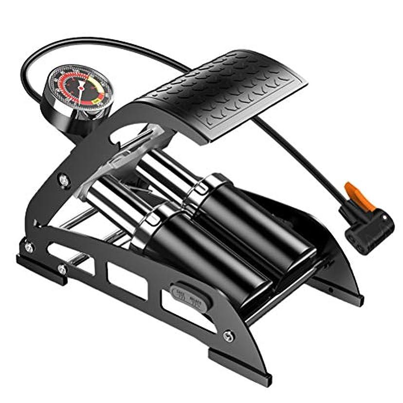 リスト時折ジャンプするCreacom 自転車ポンプ 空気入れ 携帯空気入れ 足踏み式 ミニ 手動 軽量 安い 携帯ポンプ スーパーミニフロアポンプ ゲージ付き 米式と仏式バルブ対応