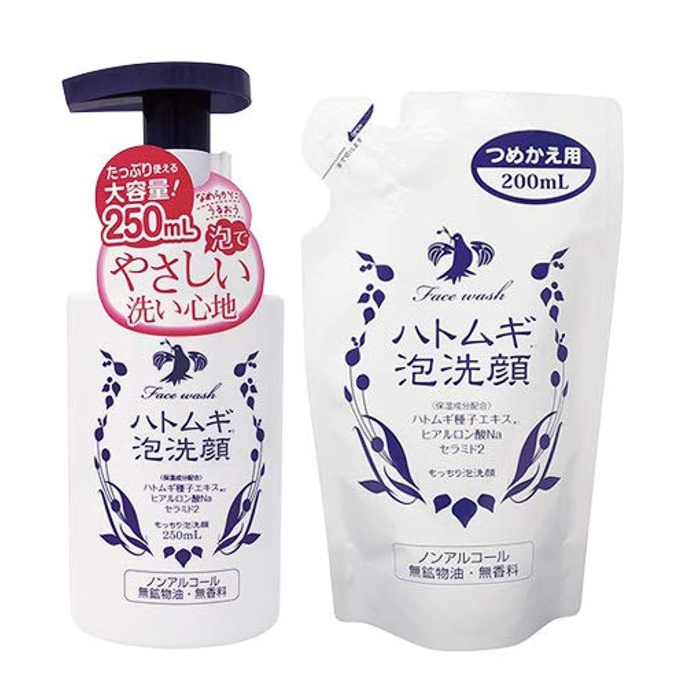 豆グローバル著者ハトムギ泡洗顔 スターターセット 本体250mL+つめかえ用 200mL