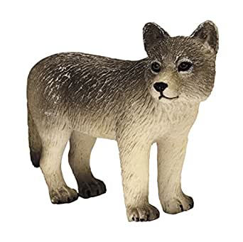 プラッツ My Little Zoo タイリクオオカミ (子) 全長約75mm 彩色済み動物フィギュア MJP387244