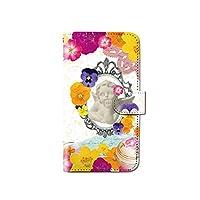 CANCER by CREE 手帳型 ケース Disney Mobile on docomo DM-02H うさぎ 兎 花 フラワー スマホ カバー dy001-00014-03 DM-02H(Disney Mobile):L