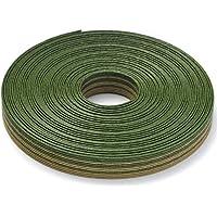 手芸用エコクラフトテープ 笹の葉 10m巻 幅15mm 12芯