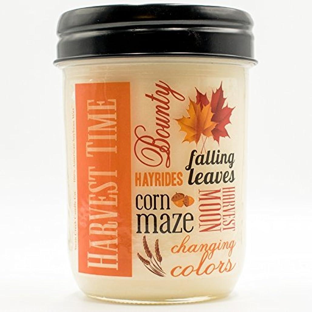 デマンド人気のテニス収穫スパイス12オンスSwan Creek Candle Harvest Jar (ラベル: Harvest Time )