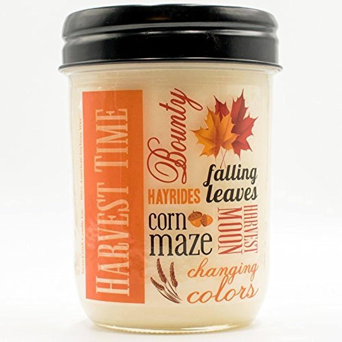 外科医ハグブルゴーニュ収穫スパイス12オンスSwan Creek Candle Harvest Jar (ラベル: Harvest Time )