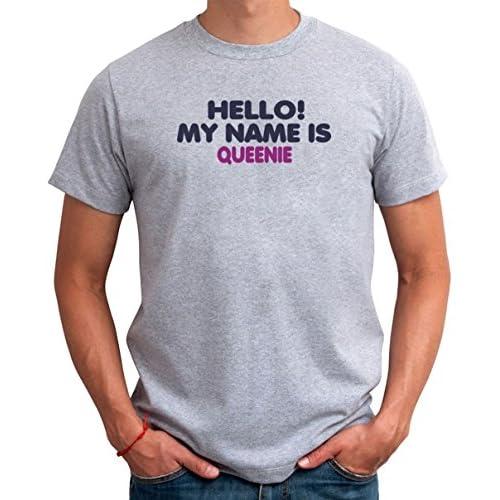 Hello! My name is Queenie メンズTシャツ