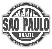 KW ビニール製 サンパウロ ブラジル スカイライン ラベル トラック 車 窓 バンパー ステッカー デカール 5インチ