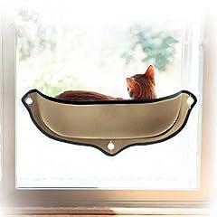 Cika (シカ)WINDOW ベッド 猫 ハンモック ペットベッド キャット用 吸盤タイプ 取り付け簡単 日光に浴びて おやすみ タン グリーン