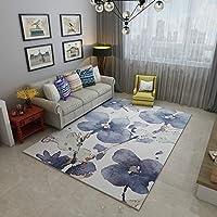 モダンなスタイルのリビングルーム、室内の柔らかいタッチの大きな家の床面積の敷物、重質の滑り止めのカーペット(120 Cm X 160 Cm) D/D/11/9 (Color : A, Size : 140 × 200cm)