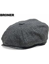 帽子 ウール キャスケット 千鳥柄 Broner ブローナー GEORGIE, Black