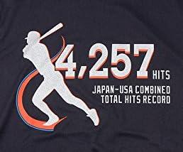MIZUNO(ミズノ) イチロー選手 日米通算4,257安打達成記念品 Tシャツ 12JA6Q9209M ブラック M