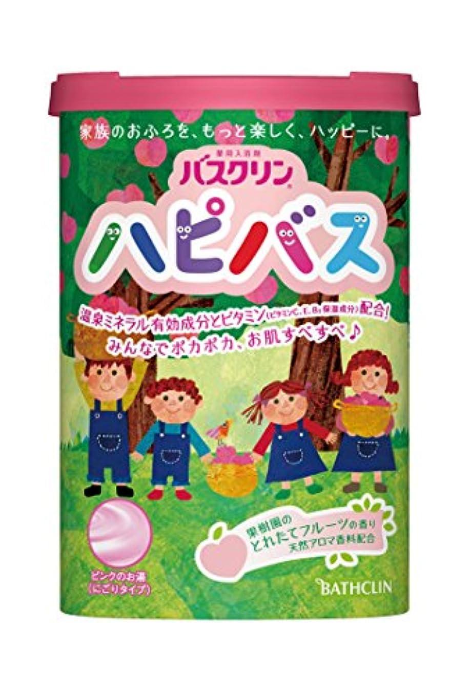 遮るデッキトーストバスクリン ハピバス 果樹園のとれたてフルーツの香り 600g にごりタイプ 入浴剤 (医薬部外品)