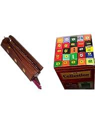 木製Incense Burner with 25 Fragrances x 8 sticks set – by Holy Land市場