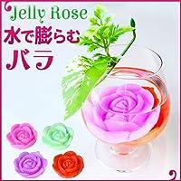 電光ホーム 水で膨らむバラ フラワージェリー 薔薇 ローズ 花 DIY 水で膨らむ ガーデニング ジェリー (パープル)