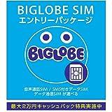 BIGLOBE SIM エントリーパッケージ ドコモ対応SIMカード データ通信/音声通話 (ナノ/マイクロ/標準SIM)[iPhone/Android] 最大 20,000円キャッシュバック EP-1