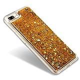 EseekGO iPhone 7 Plus専用ケース キラキラ流れ星 携帯ケースクリアTPUケースFor iPhone 7 Plus【全5色】シューティングスター 金色【 ゴールデン 】
