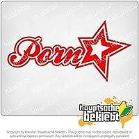 ポルノスターアスタリスク Pornstar asterisks 20cm x 10cm 15色 - ネオン+クロム! ステッカービニールオートバイ