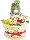 出産の祝い に 人気!となりのトトロ プレミアムパンパースで作ったかわいい 2段 オムツケーキ 男の子 女の子 用