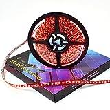 ぶーぶーマテリアル LEDテープ レッド 赤 600連 高輝度 5m 12V 黒ベース 防水 IP65 【カーパーツ】