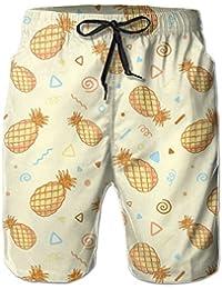 パイナップル カートン メンズ サーフパンツ 水陸両用 水着 海パン ビーチパンツ 短パン ショーツ ショートパンツ 大きいサイズ ハワイ風 アロハ 大人気 おしゃれ 通気 速乾