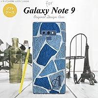SC-01L SCV40 Galaxy Note9 スマホケース カバー 石畳 青 【対応機種:Galaxy Note9 SC-01L SCV40】【アルファベット [P]】