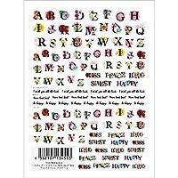 TSUMEKIRA(ツメキラ) ネイルシール アルファベット フラワー1 NN-ALP-101 マルチカラー 1枚